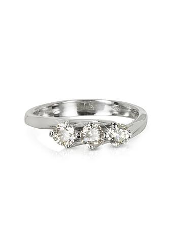 Inel din aur alb FORZIERI cu diamante, 18k