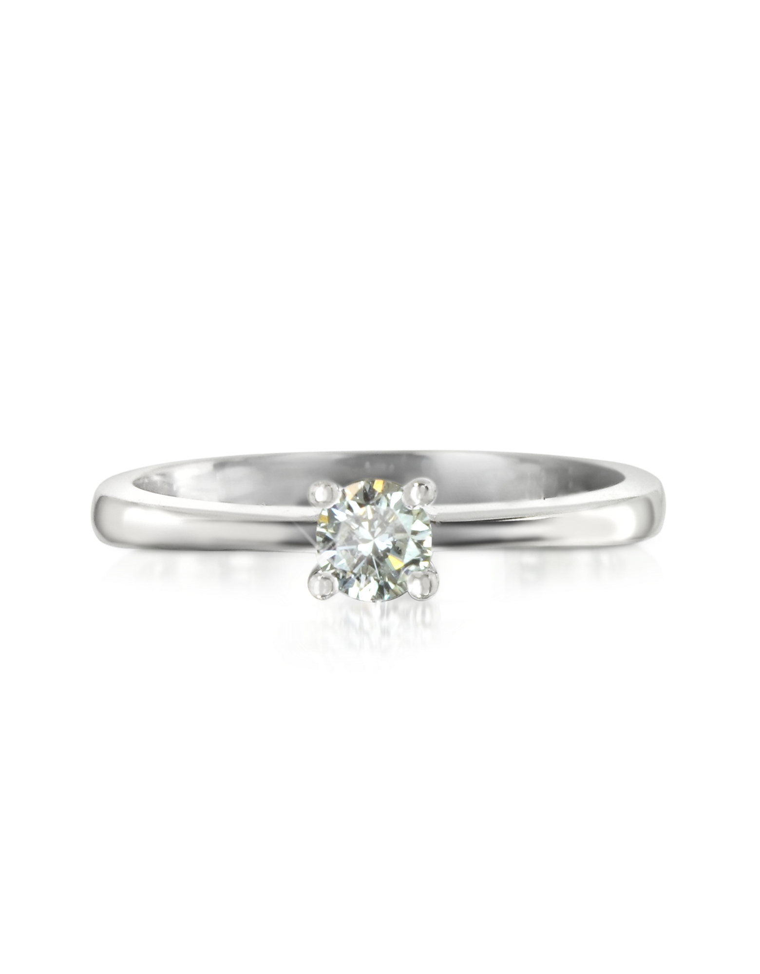 Forzieri Rings, 0.23 ctw Diamond 18K White Gold Solitaire Vanity Ring