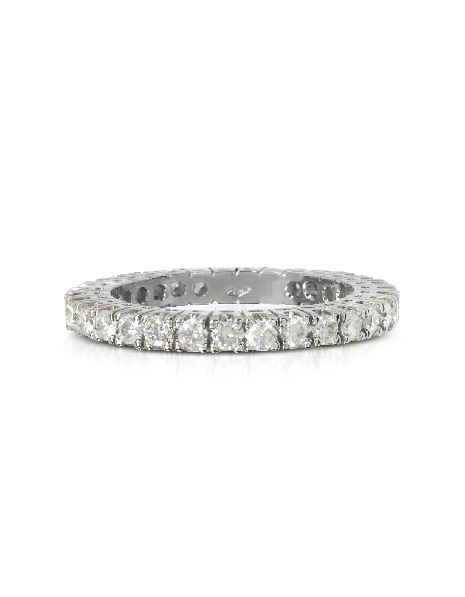 Forzieri Designer Rings, 0.98 ctw Diamond 18K White Gold Eternity Band