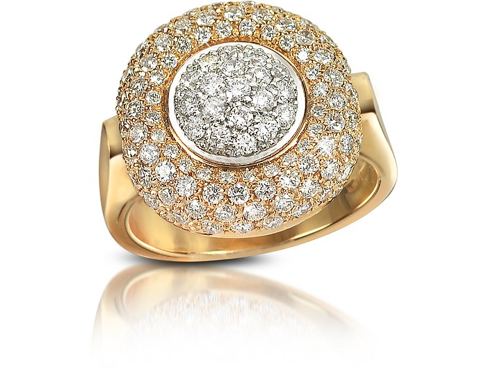1.49 ct Diamond Pave 18K Gold Ring  - Forzieri