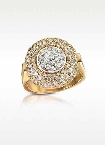 1.49 ct Diamond Pave 18K Gold Ring  - Forzieri