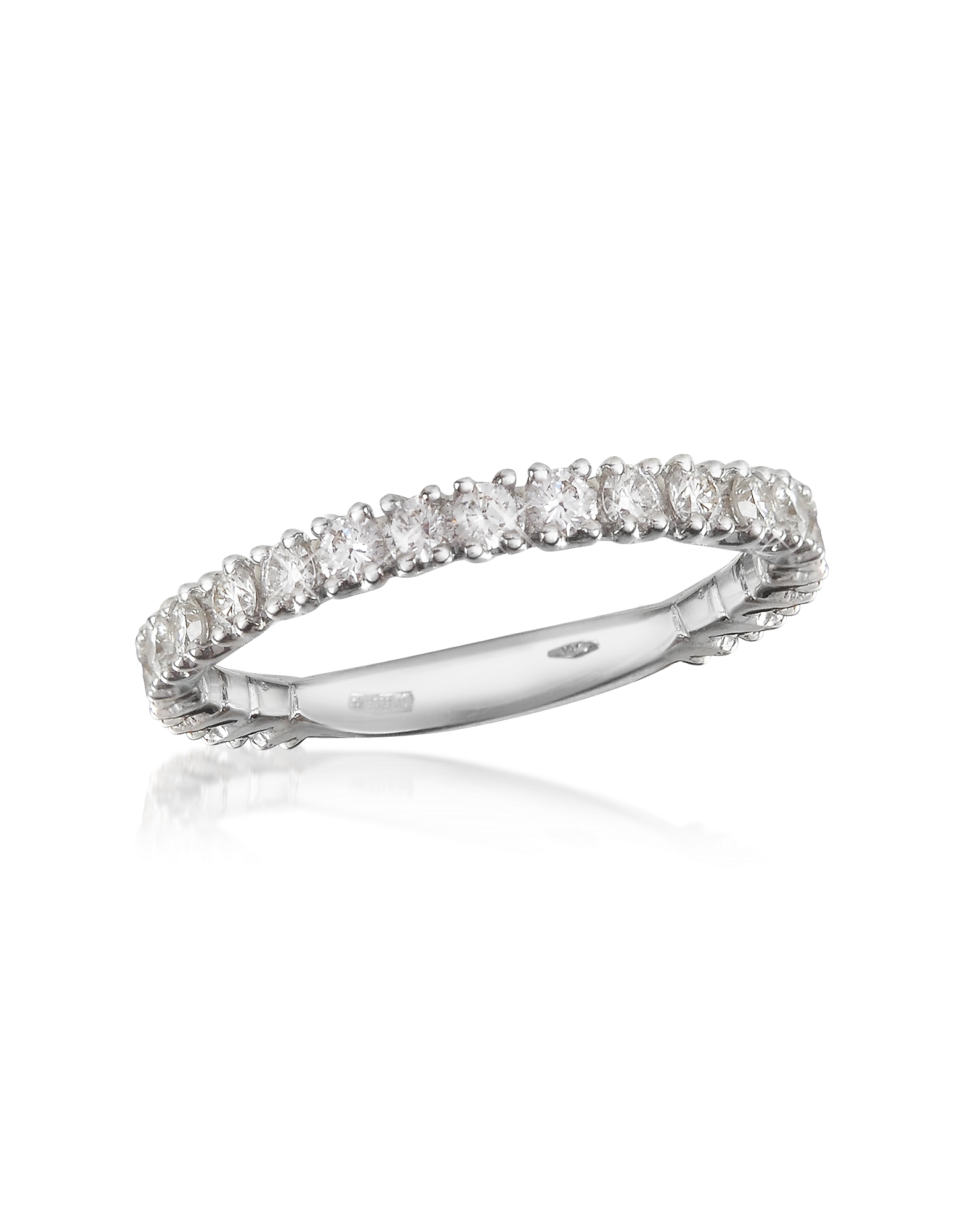 Forzieri Designer Rings, 0.74 ct Diamond 18K Gold Eternity Band