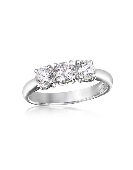 Forzieri Ring aus 18k gold mit drei Diamanten 0.92 ctw