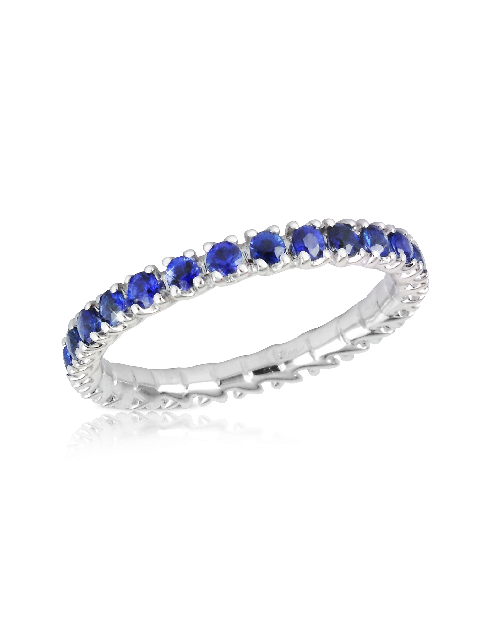 Forzieri Rings, Blue Sapphires 18K Gold Eternity Band