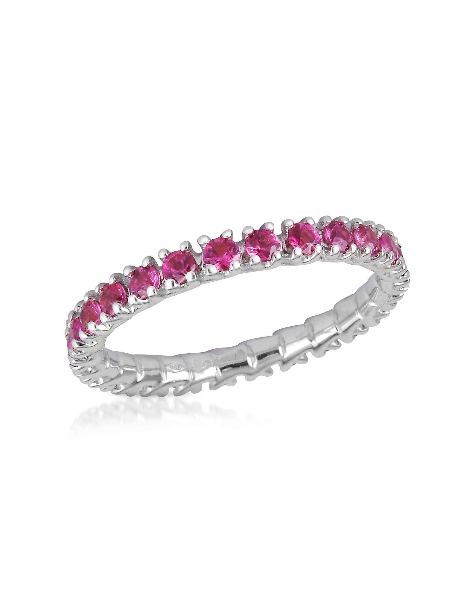 Forzieri Rings, Pink Sapphires 18K Gold Eternity Band