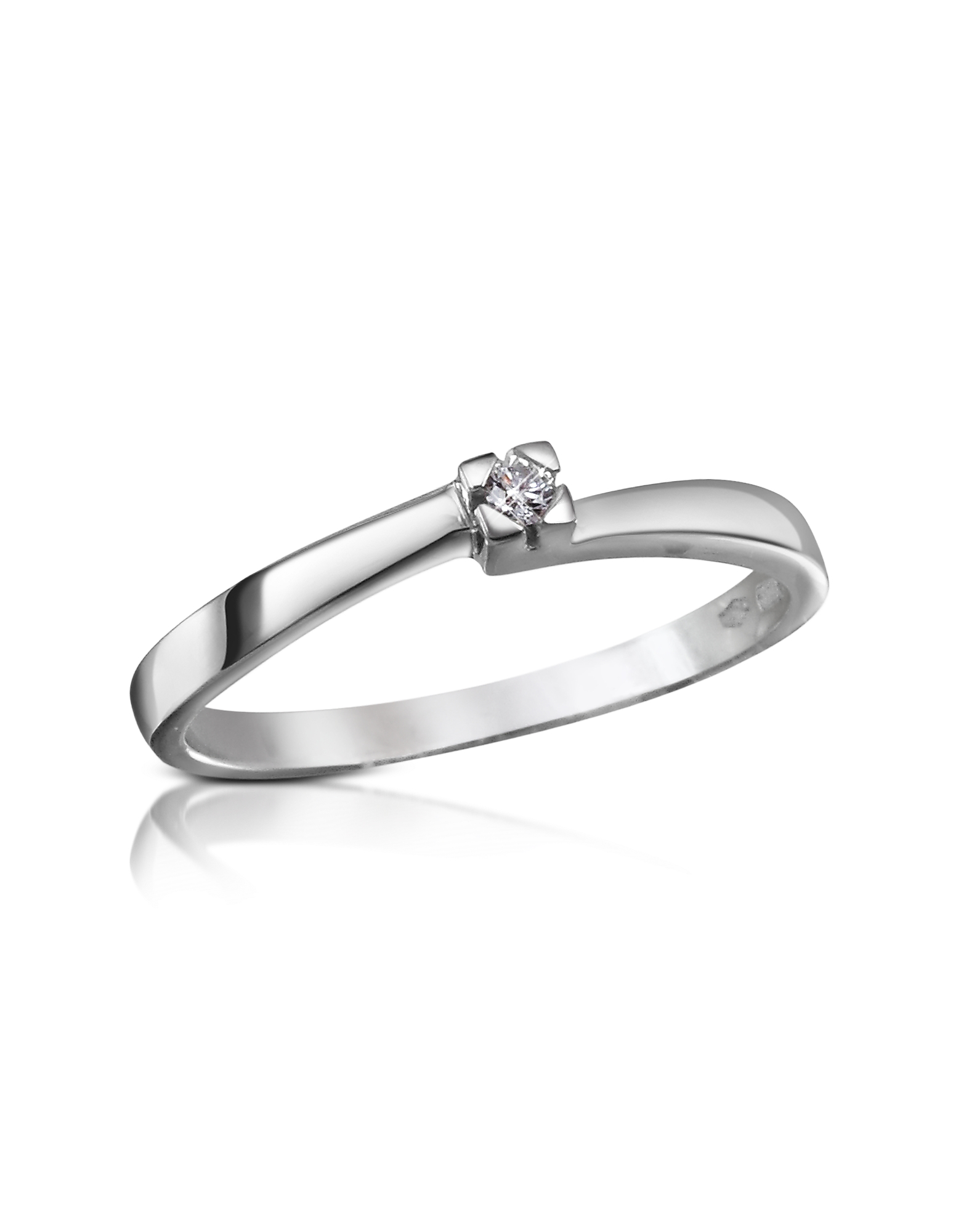 Forzieri Rings, 0.03 ctw Diamond Solitaire Ring