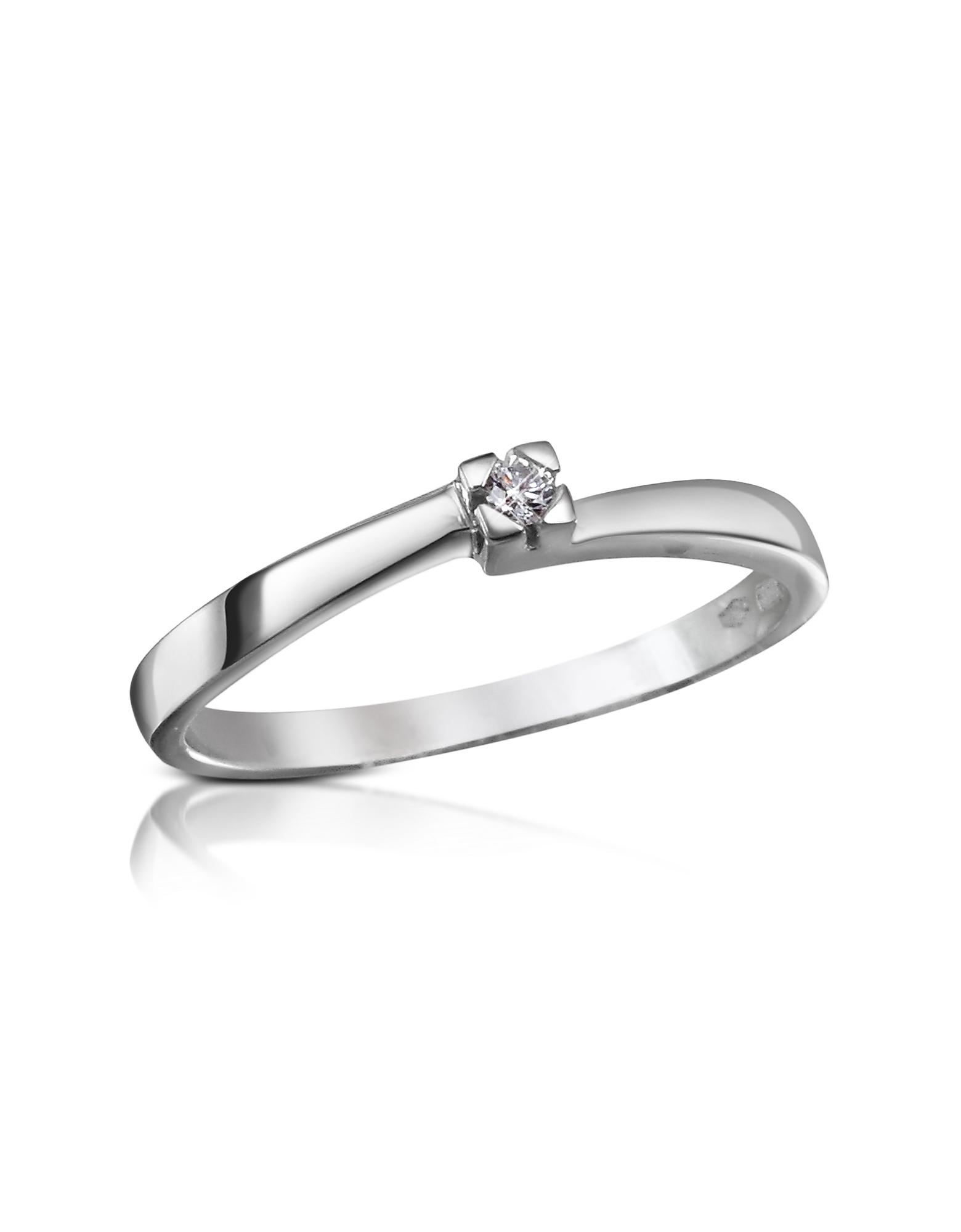 Forzieri Designer Rings, 0.03 ctw Diamond Solitaire Ring