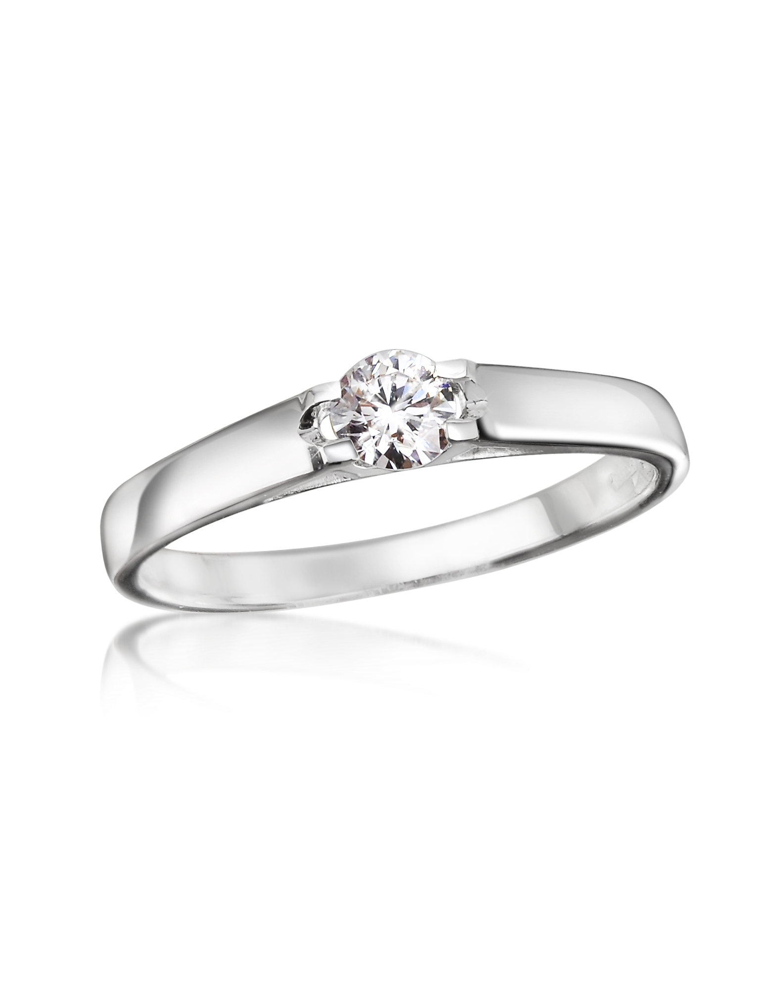 Forzieri Designer Rings, 0.24 ctw Diamond Solitaire Ring