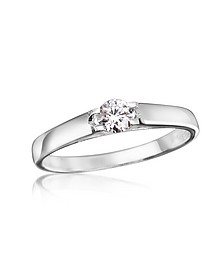 0.24 ctw Diamond Solitaire Ring  - Forzieri