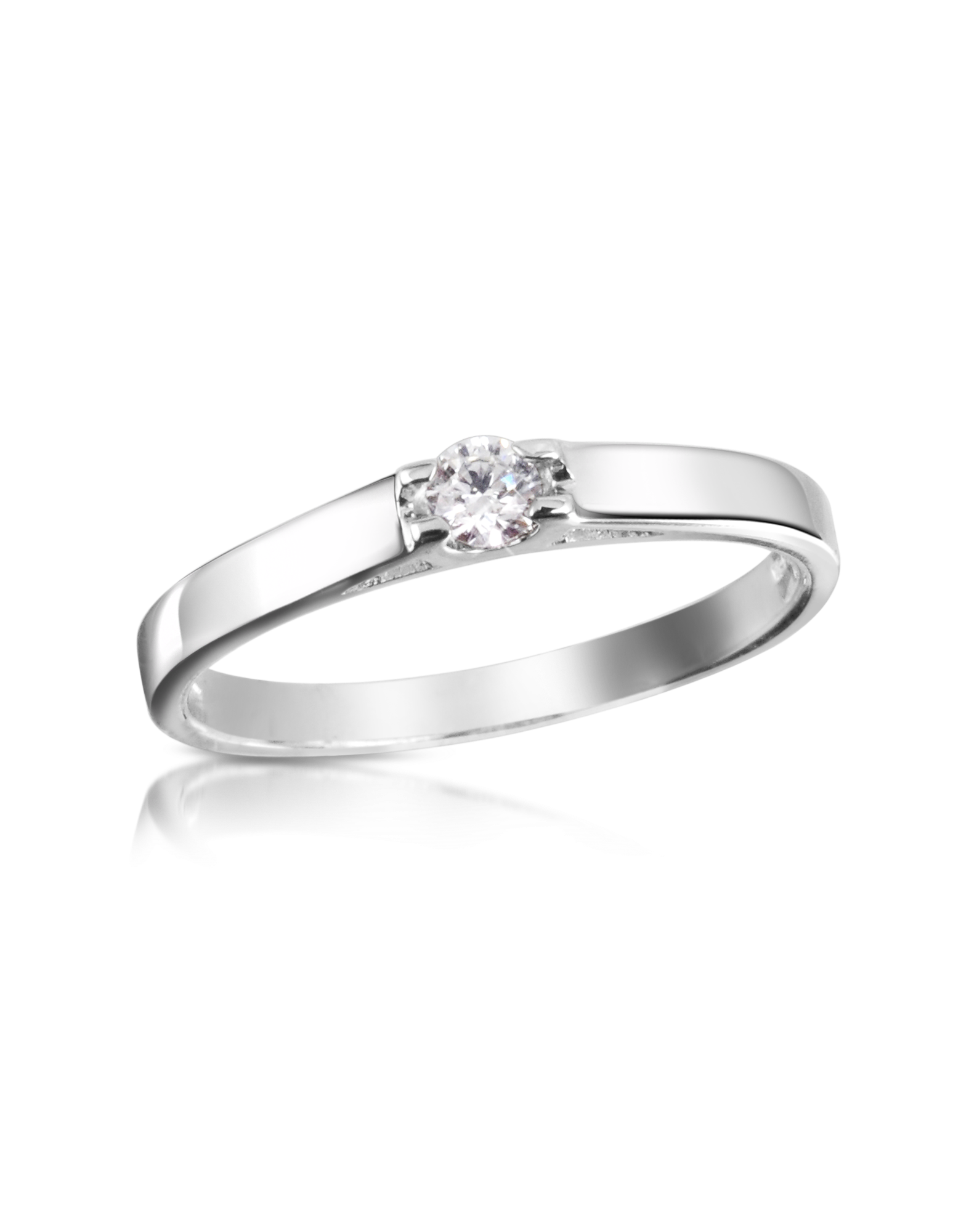 Image of 0.10 ctw Diamond Solitaire Ring