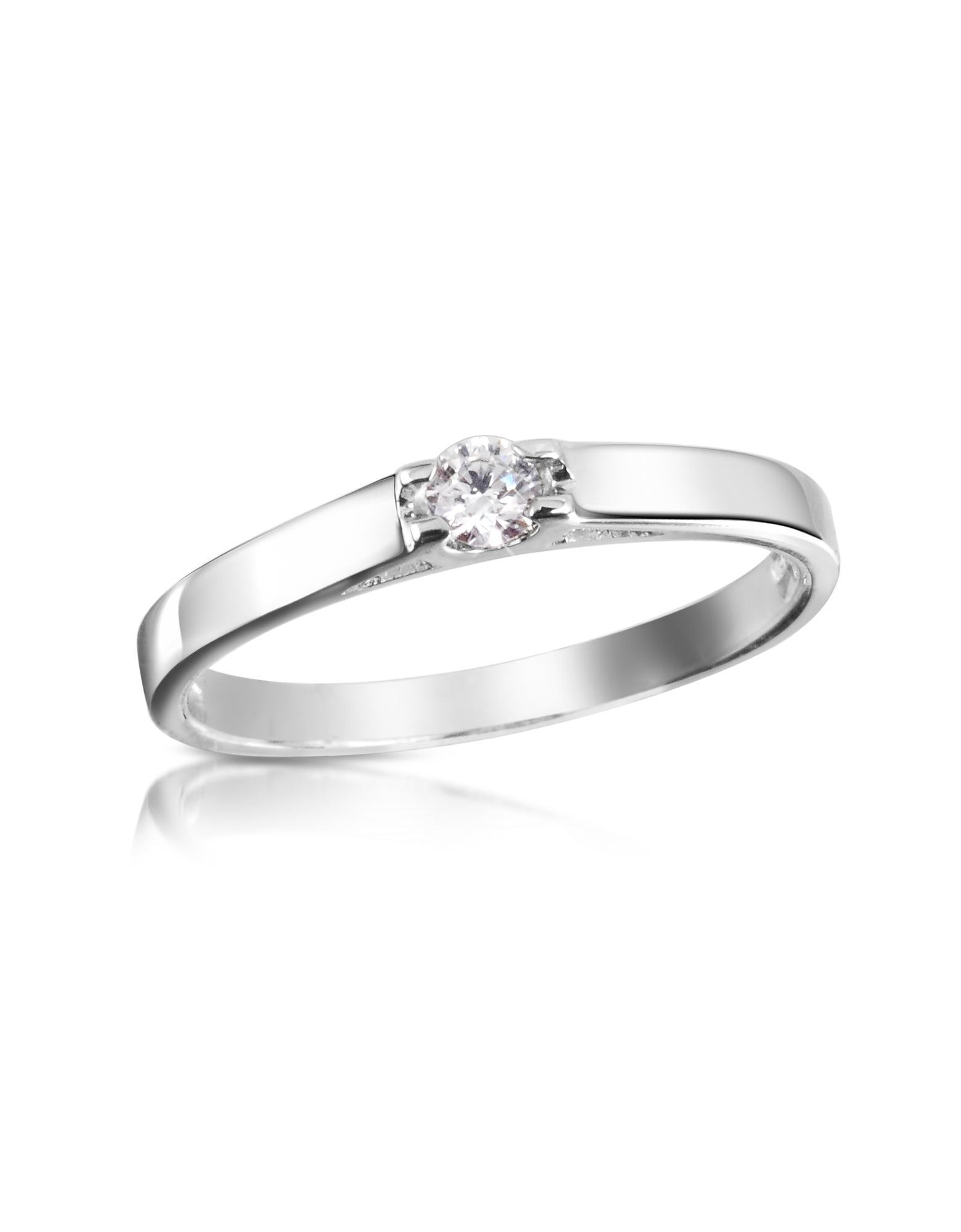 Forzieri Rings, 0.10 ctw Diamond Solitaire Ring