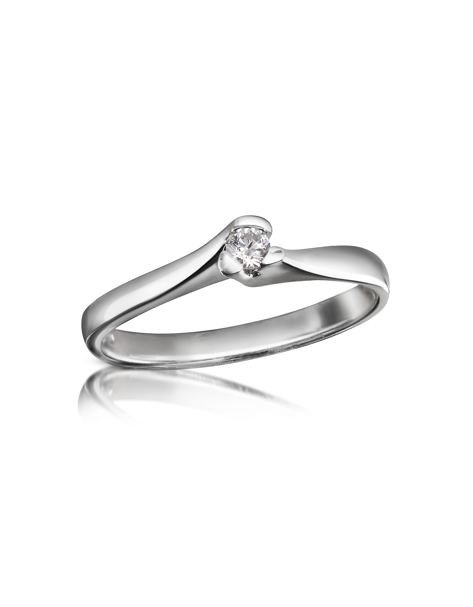 Forzieri Rings, 0.08 ctw Diamond Solitaire Ring