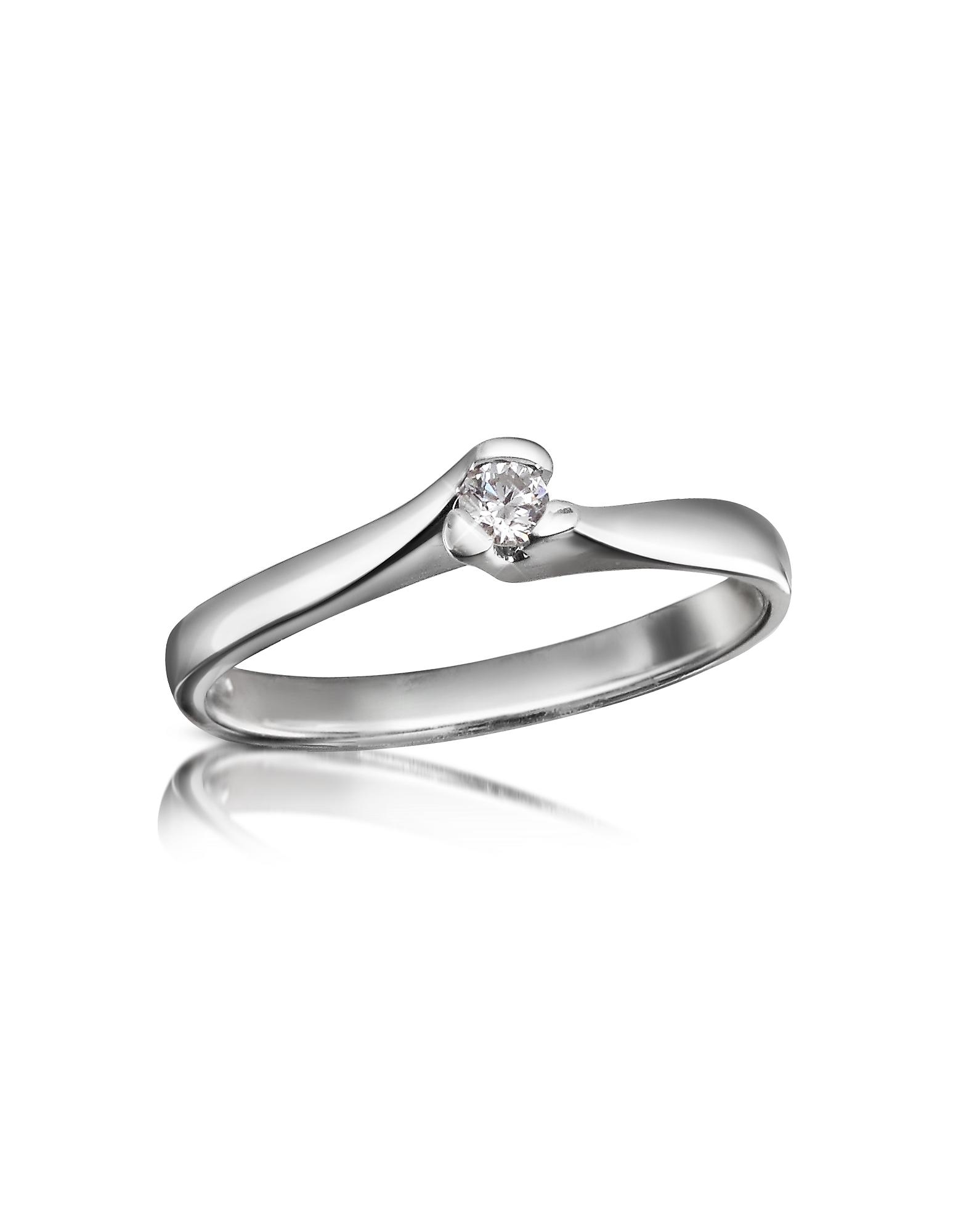 Forzieri Designer Rings, 0.08 ctw Diamond Solitaire Ring