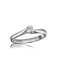 0.08 ctw Diamond Solitaire Ring  - Forzieri