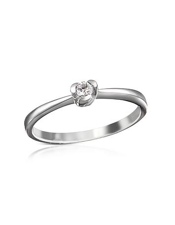 Forzieri - 0.08 ctw Diamond Solitaire Ring