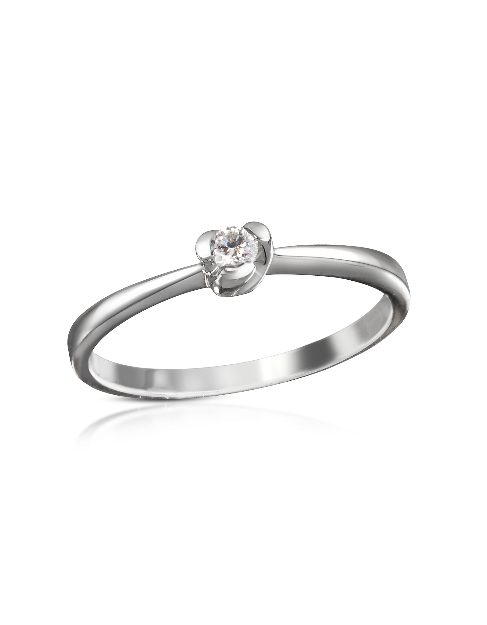Forzieri Designer Rings, 0.08 ctw Diamond Solitaire Ring