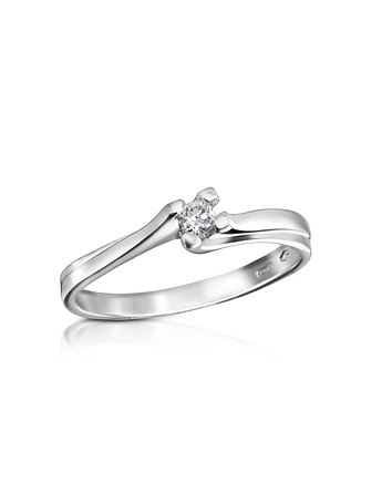 Forzieri - 0.08 ctw Diamond Solitaire Ring