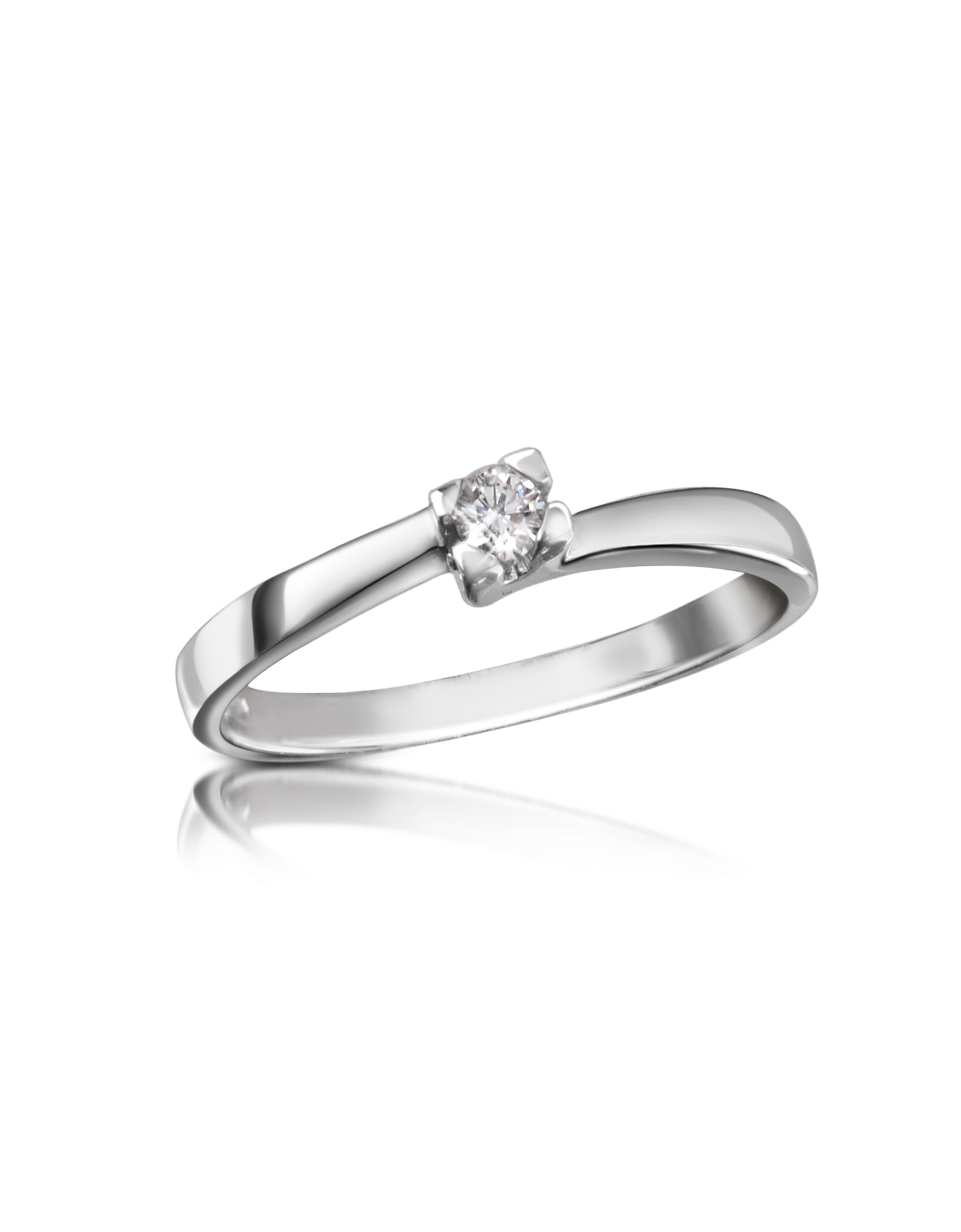 Image of 0.08 ctw Diamond Solitaire Ring