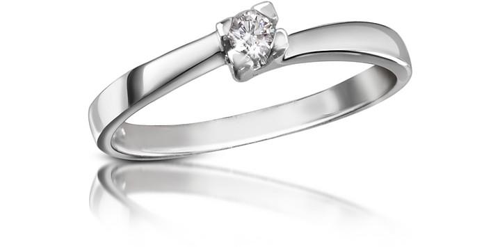 0.08 ctw Diamond Solitaire Ring  - Forzieri