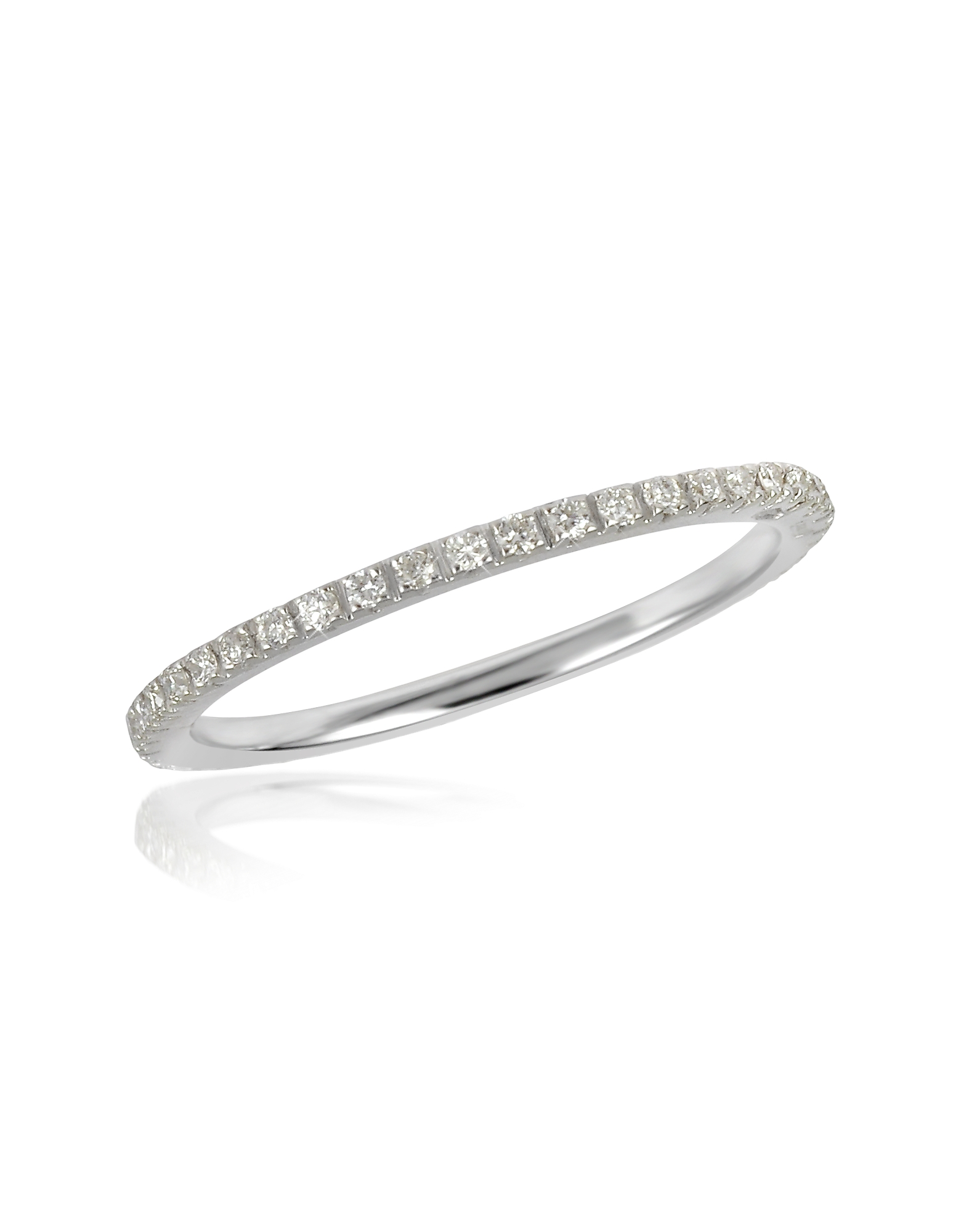 Forzieri Rings, 0.27 ctw Diamond 18K White Gold Eternity Band
