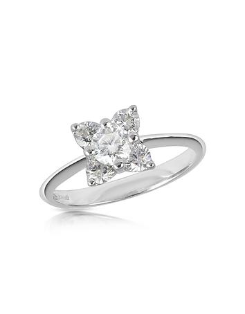 Forzieri - Diamond Flower 18K White Gold Ring
