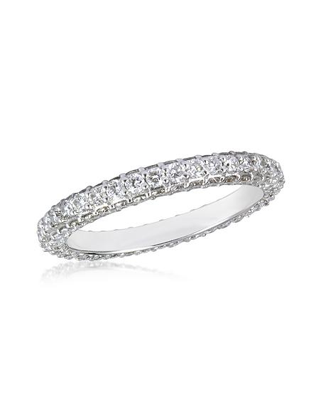 Foto Forzieri Anello in Oro Bianco 18k Eternity con Diamanti 1.59 ctw Anelli