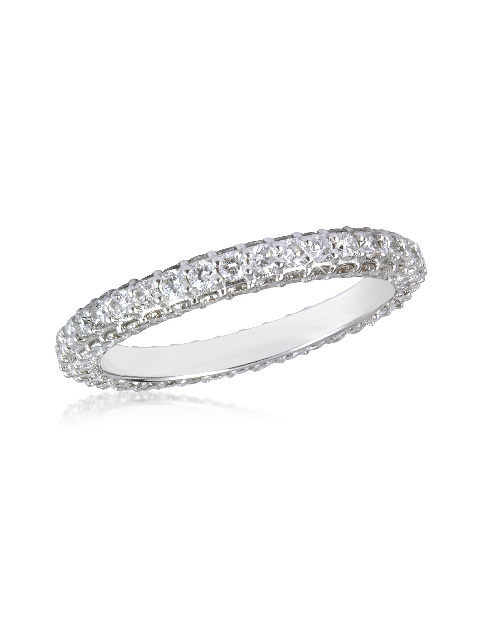 Forzieri Rings, 1.59 ctw Diamond 18K White Gold Eternity Band