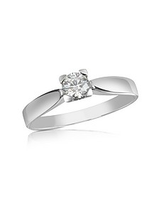 0.23 ctw Diamond Solitaire Ring - Forzieri