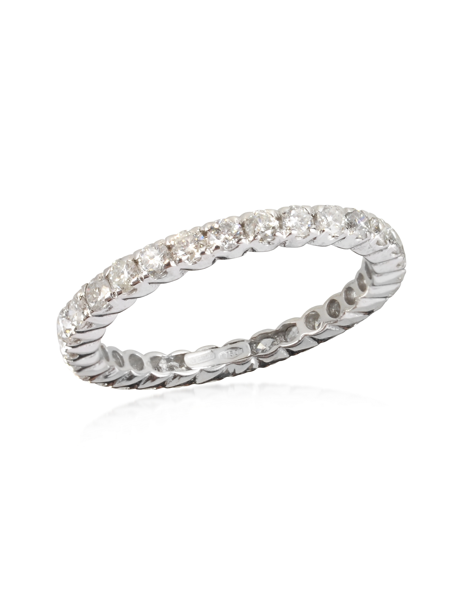 Forzieri Designer Rings, 1.20 ctw Diamond 18K White Gold Eternity Band
