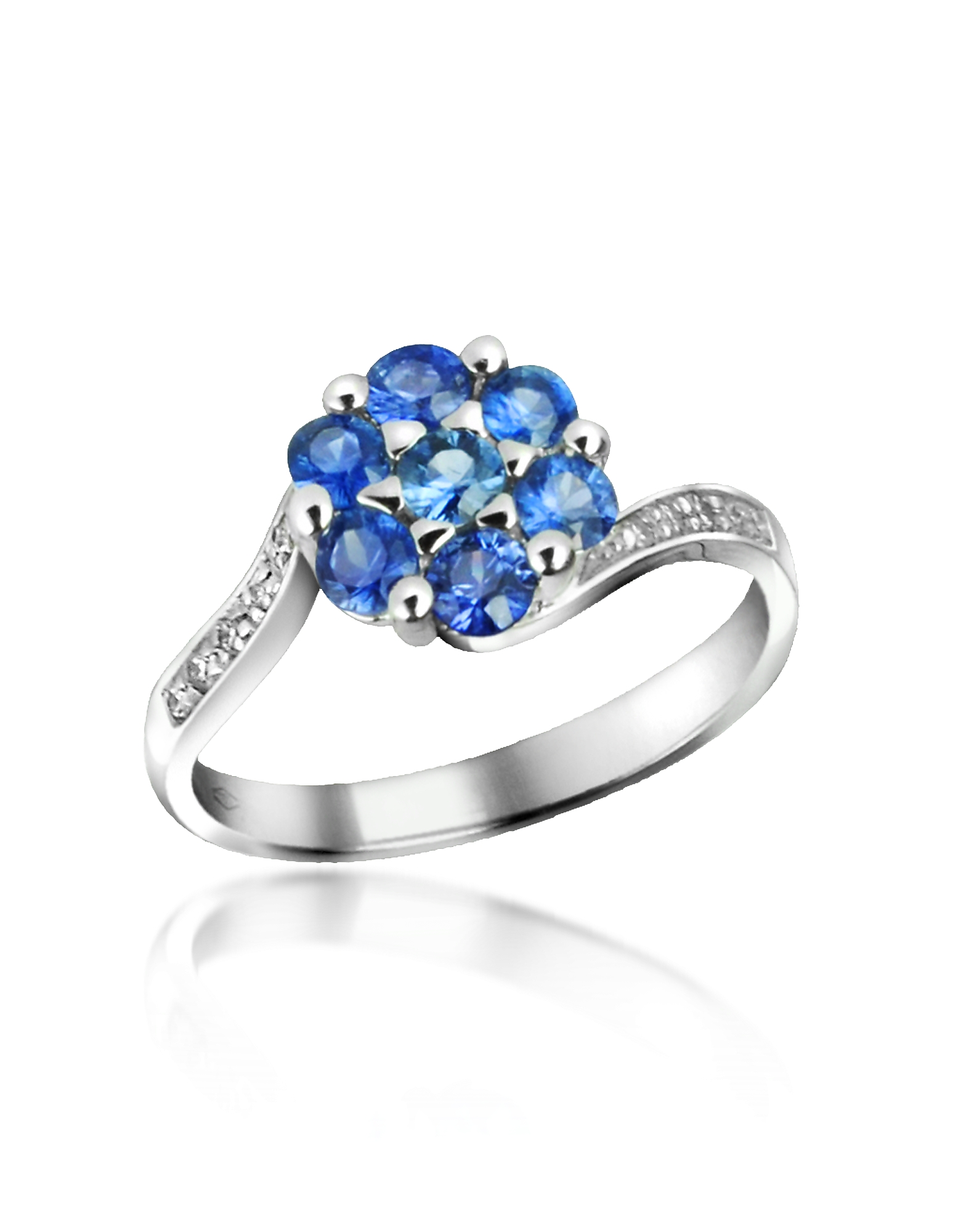 Incanto Royale Designer Rings, Sapphire and Diamond 18K Gold Ring