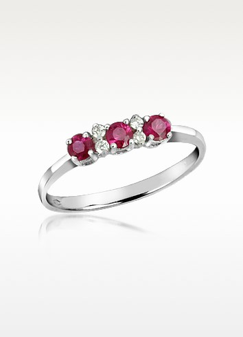 Ruby and Diamond 18K Gold Ring - Incanto Royale