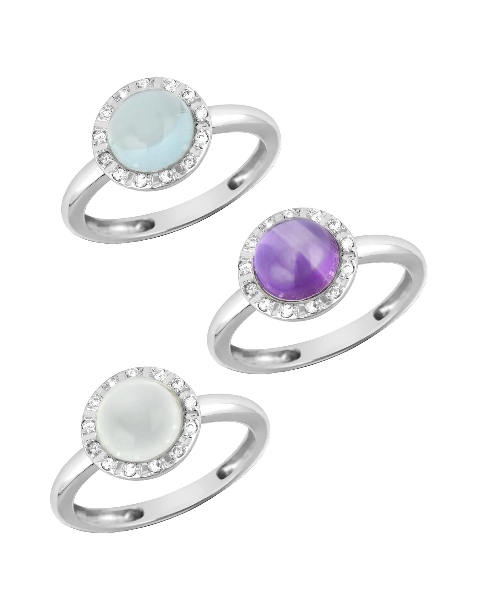 Gemstone and Diamond 18K White Gold Ring от Forzieri INT