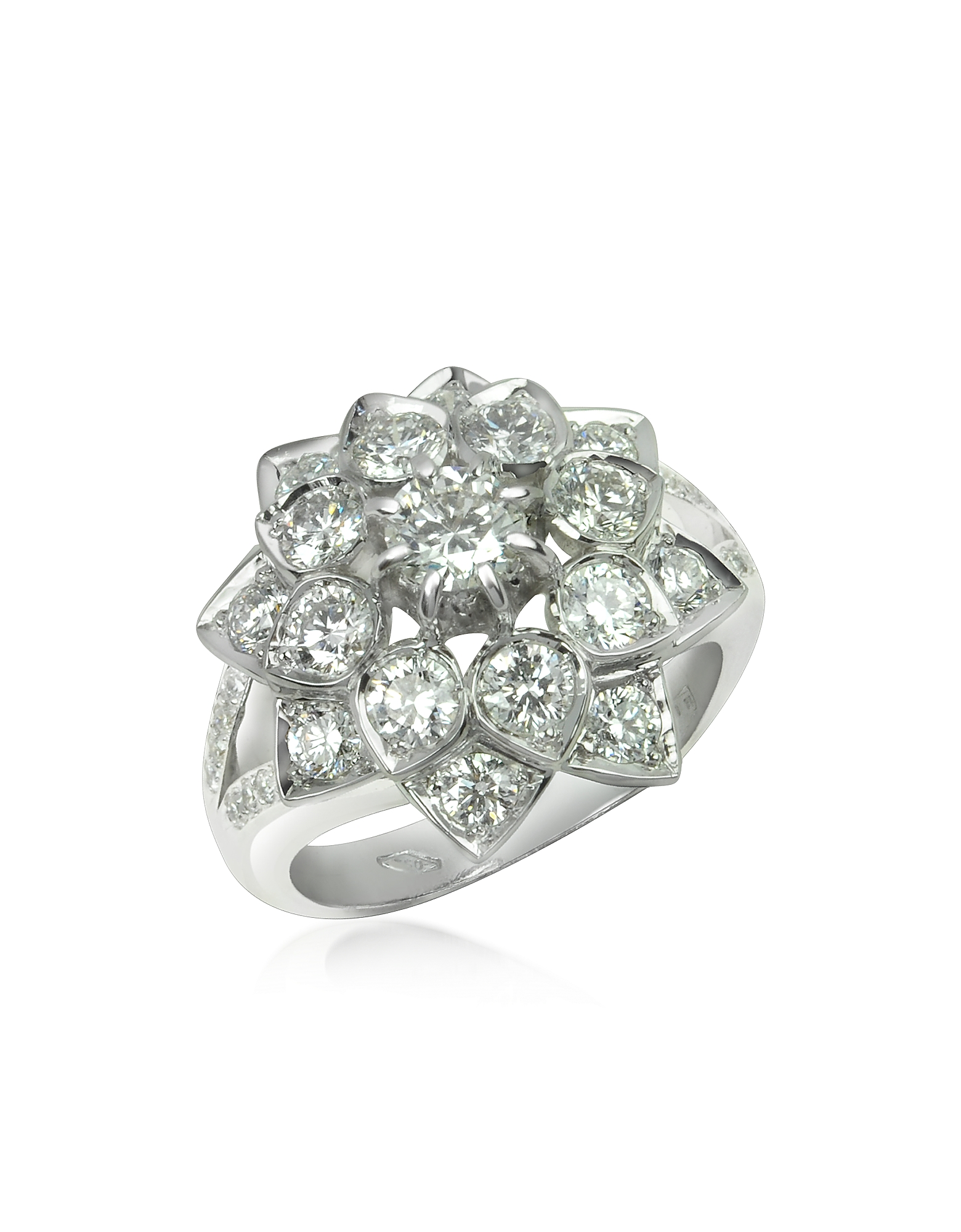 Incanto Royale Rings, 1.44 ctw Diamond 18K Gold Ring