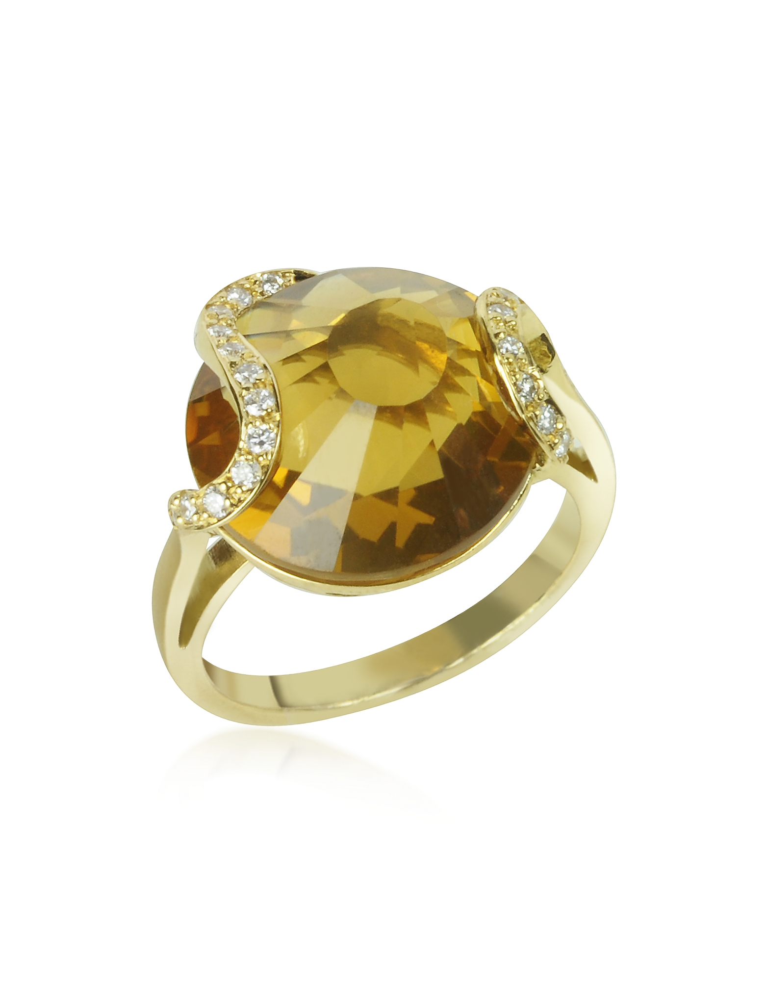 Incanto Royale Rings, Citrine and Diamond 18K Gold Ring