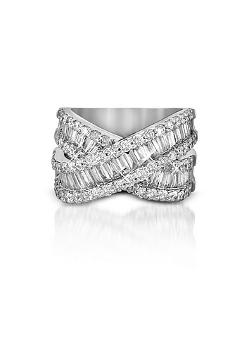 Forzieri Diamond Crossover 18K White Gold Band
