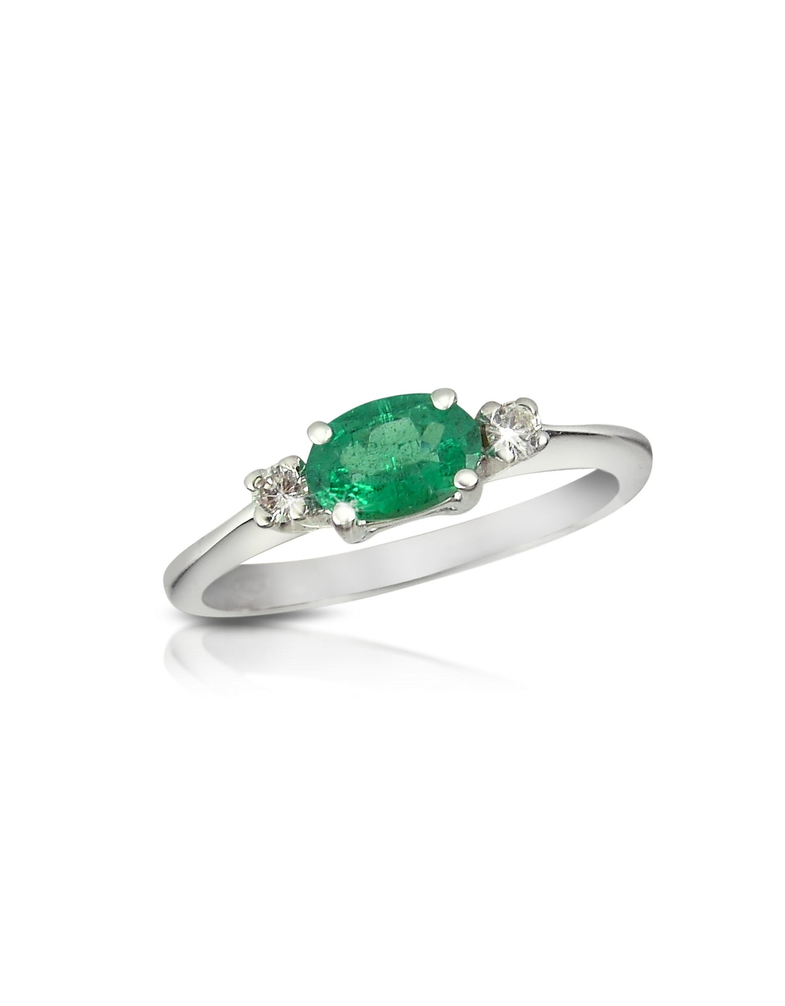 Incanto Royale Rings, Emerald and Diamond 18K Gold Ring