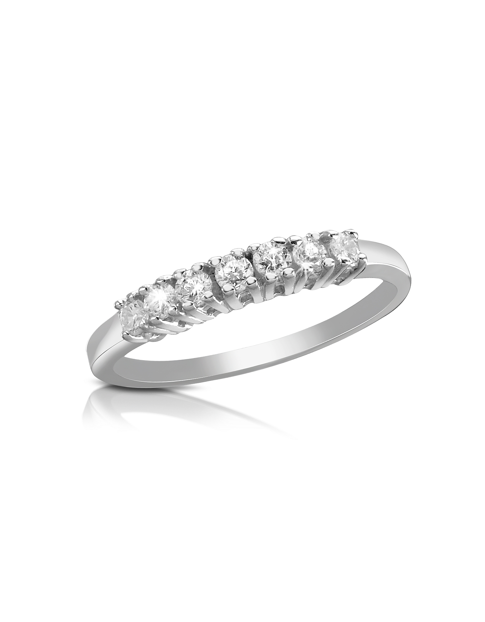 Forzieri Rings, 0.24 ct Diamond 18K Gold Band Ring