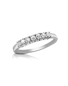 0.24 ct Diamond 18K Gold Band Ring - Forzieri