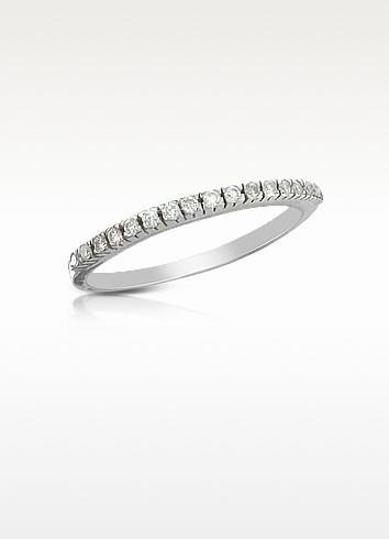 0.115 ct Diamond Band Ring - Forzieri