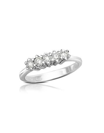 Forzieri - 0.225 ct Diamond 18K Gold Band Ring