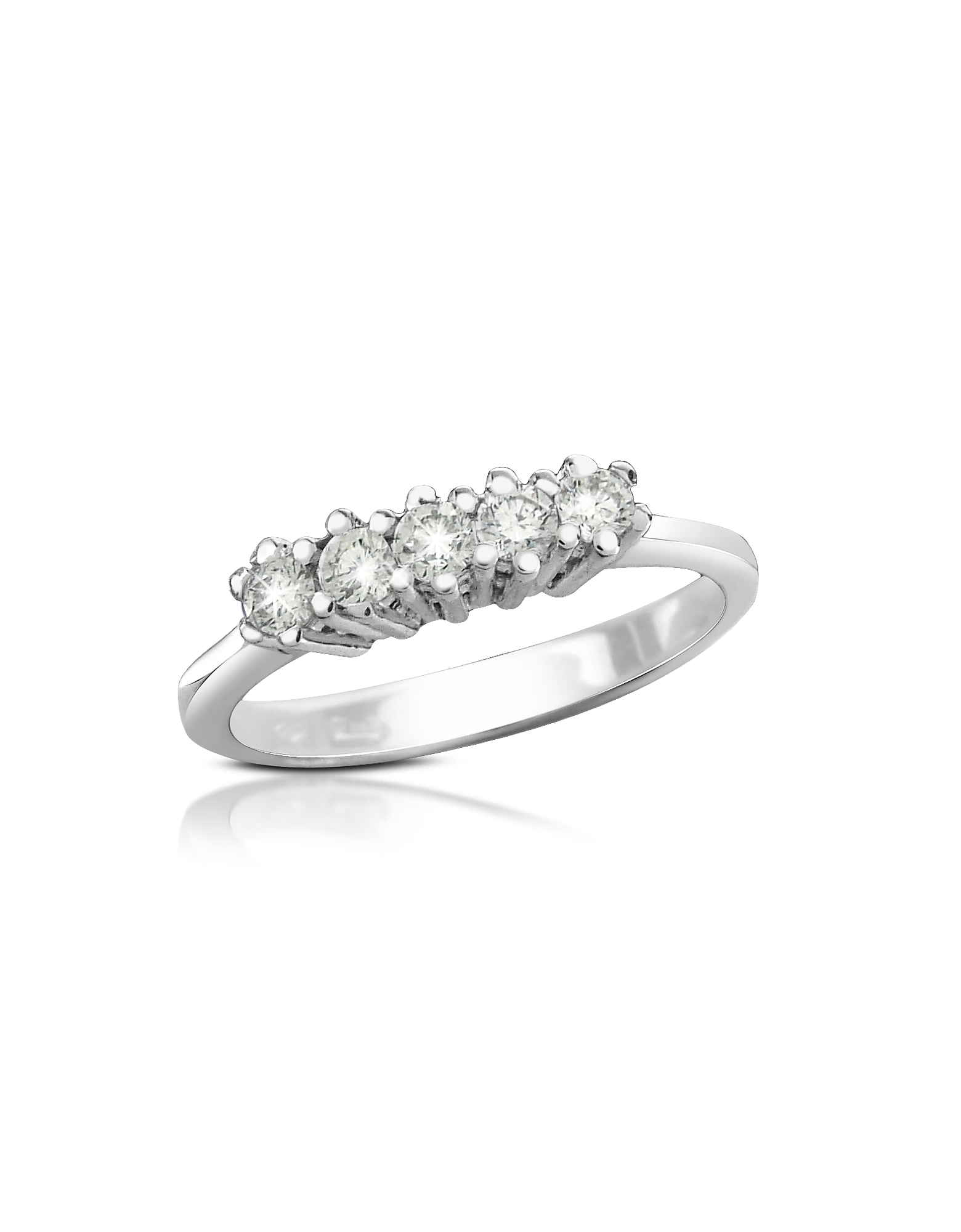 Forzieri Rings, 0.225 ct Diamond 18K Gold Band Ring