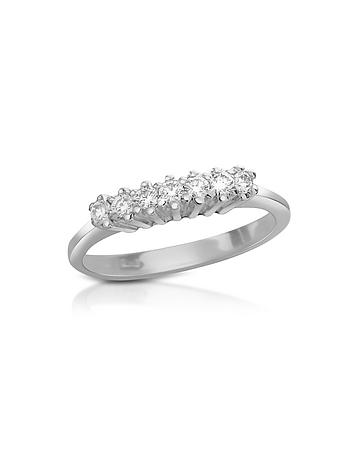 Forzieri - 0.10 ct Diamond 18K Gold Band Ring