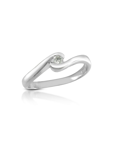 Foto Forzieri Princess - Anello in Oro 18ct con Solitario Diamante 0.06 ct Anelli