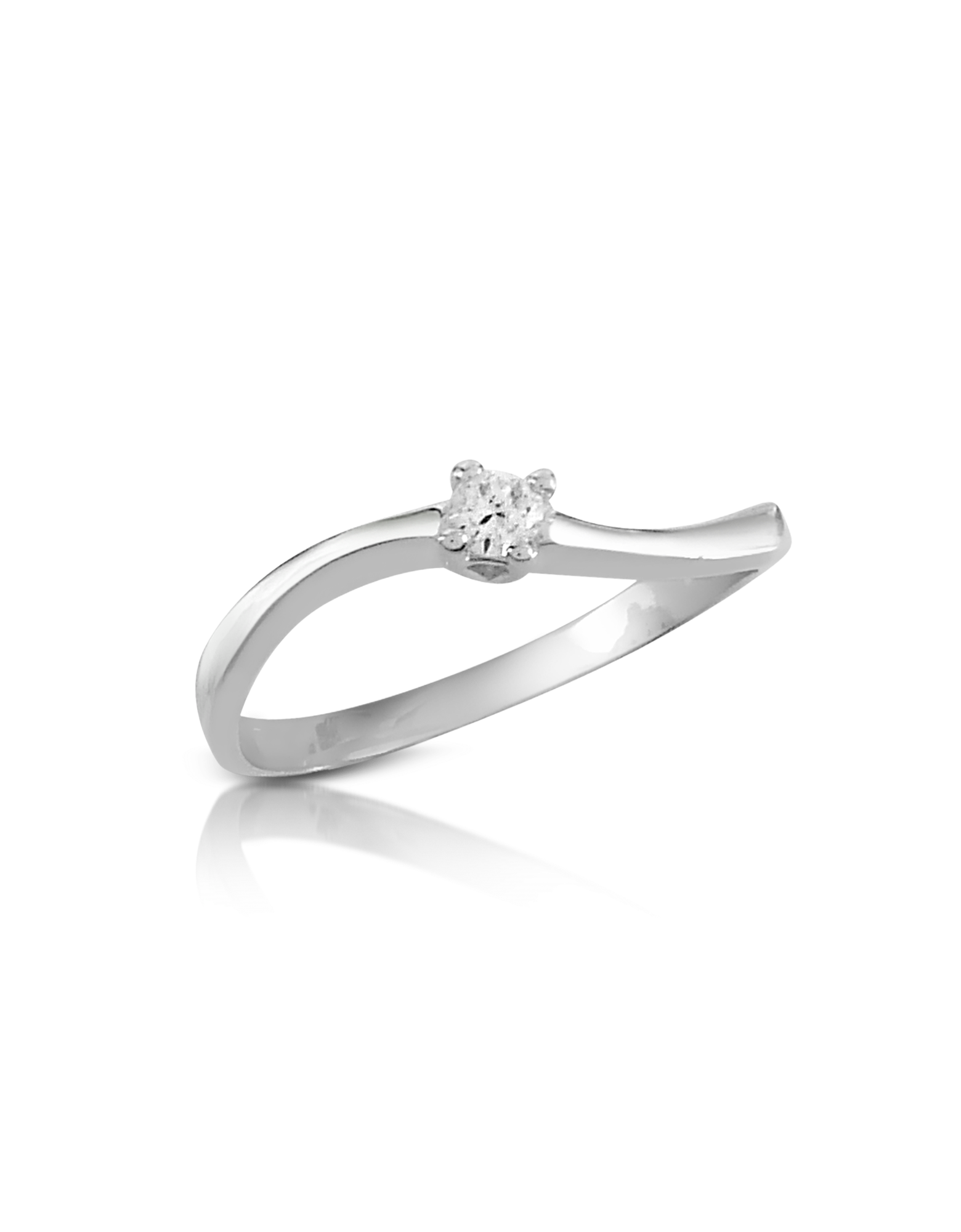 Image of 0.07 ct Prong-Set Diamond Solitaire Ring