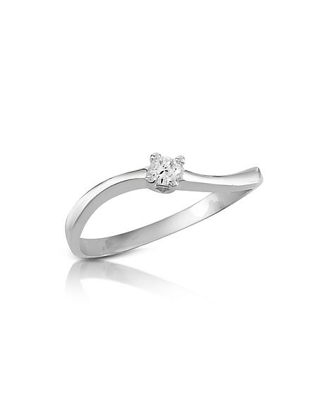 Forzieri Princess - Bague avec diamant 0.07 Ct