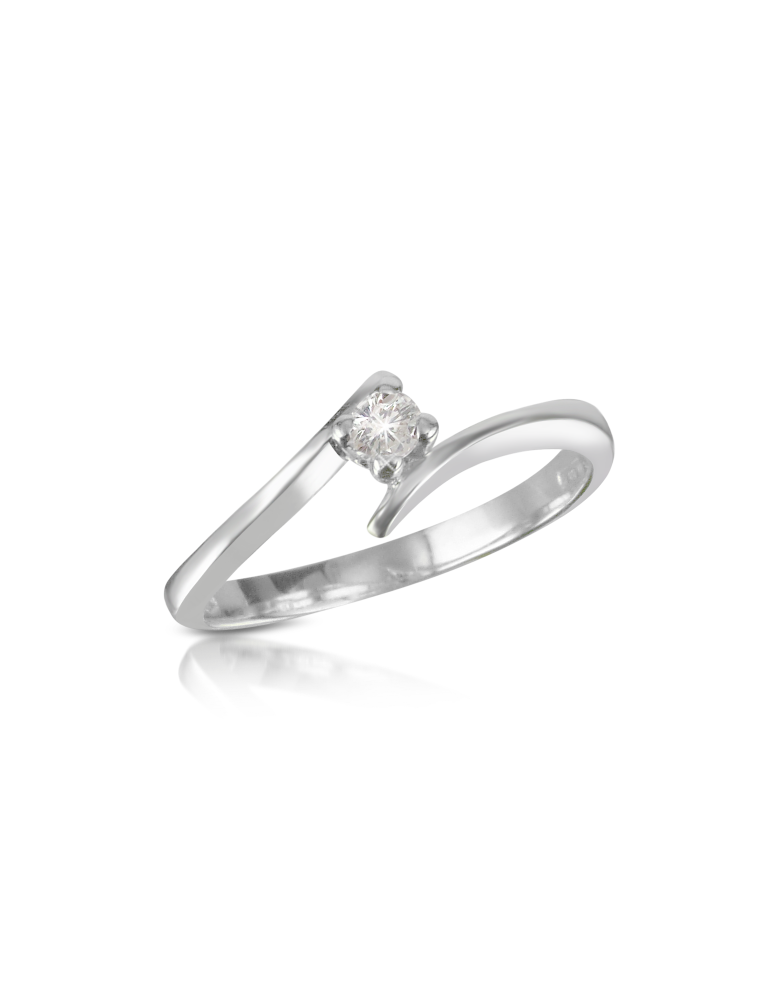 Image of 0.10 ct Diamond Solitaire Ring
