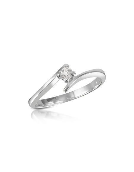 Forzieri Princess - Bague avec diamant 0.10 Ct