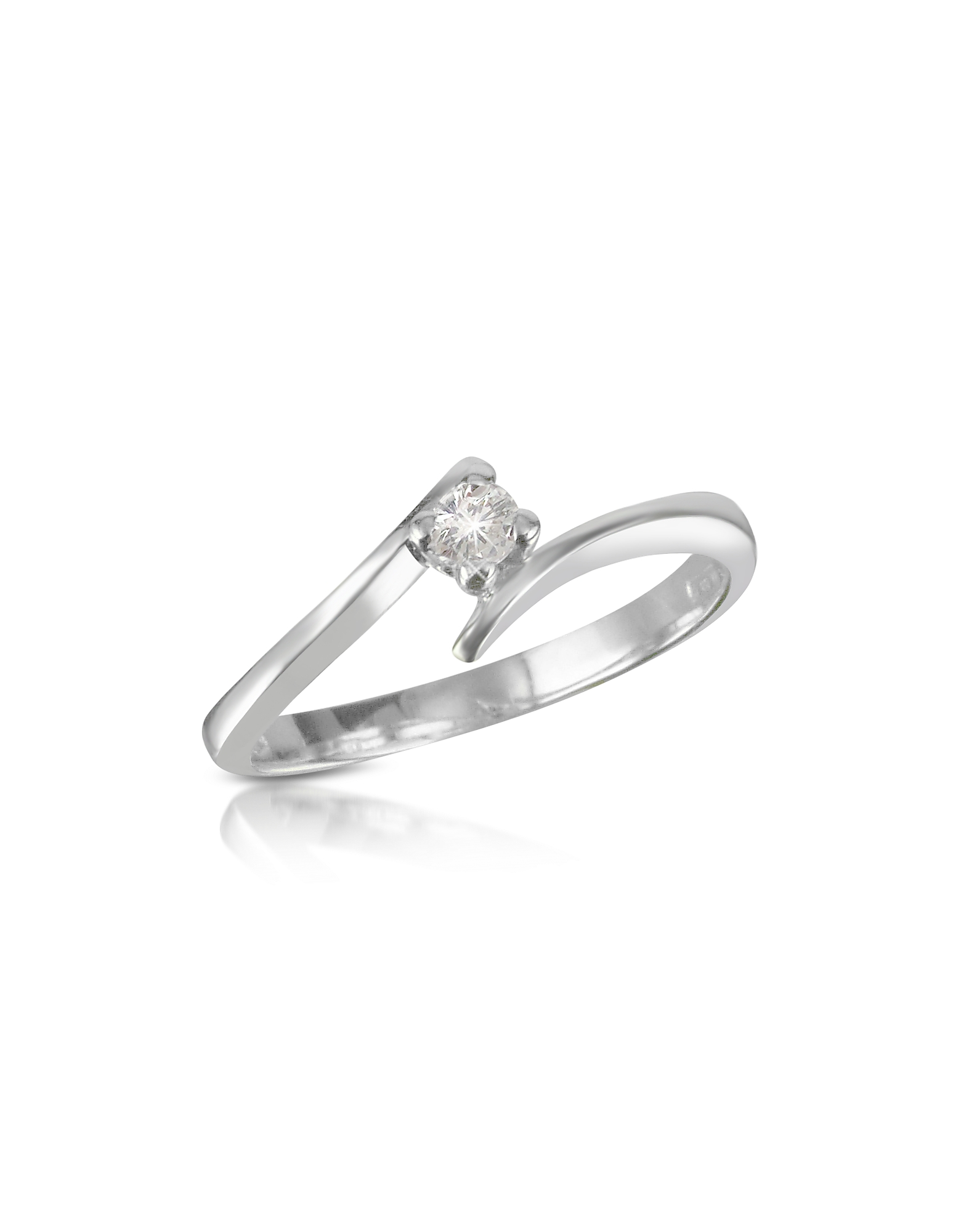 Forzieri Rings, 0.10 ct Diamond Solitaire Ring