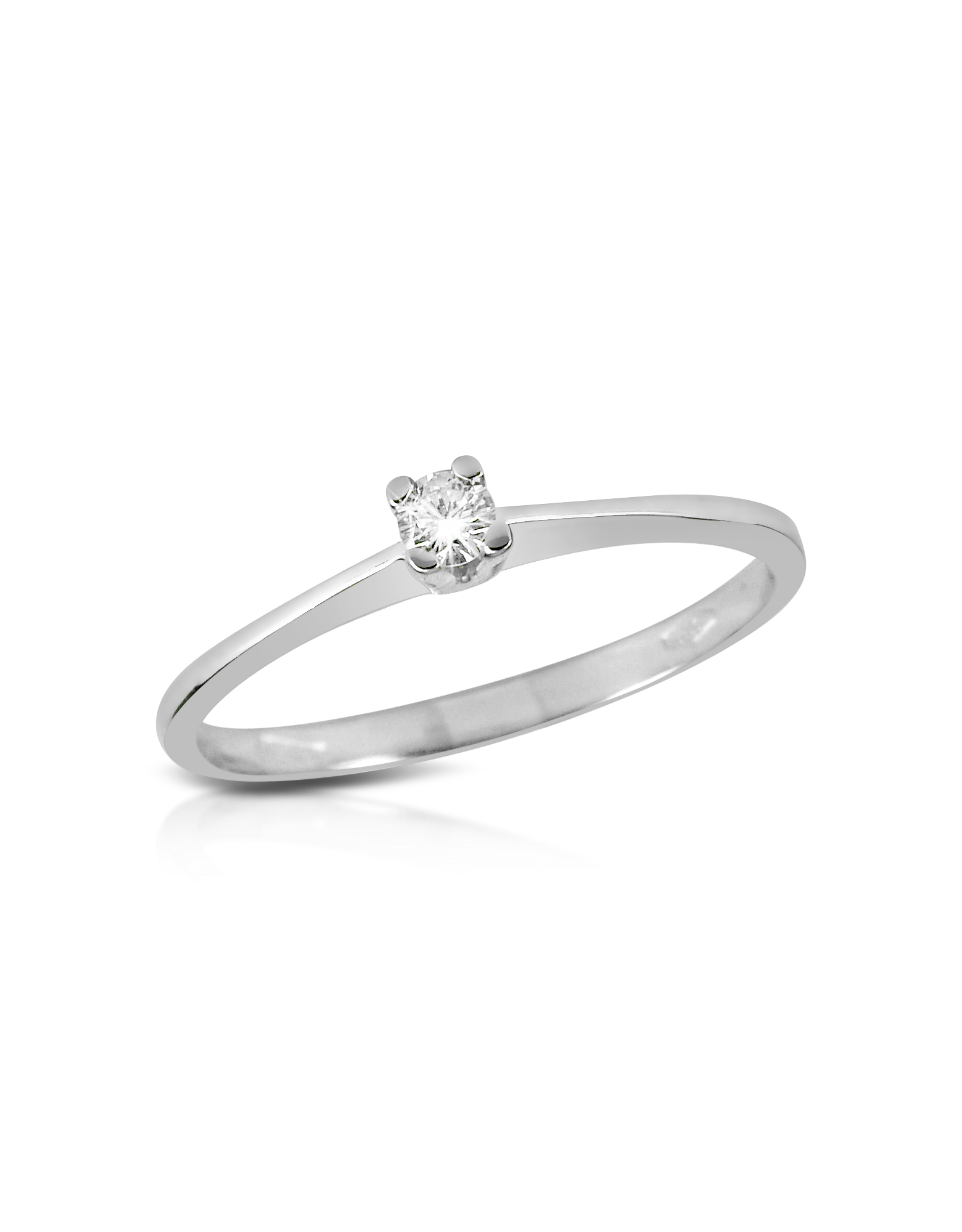 Image of 0.04 ct Prong-Set Diamond Solitaire Ring