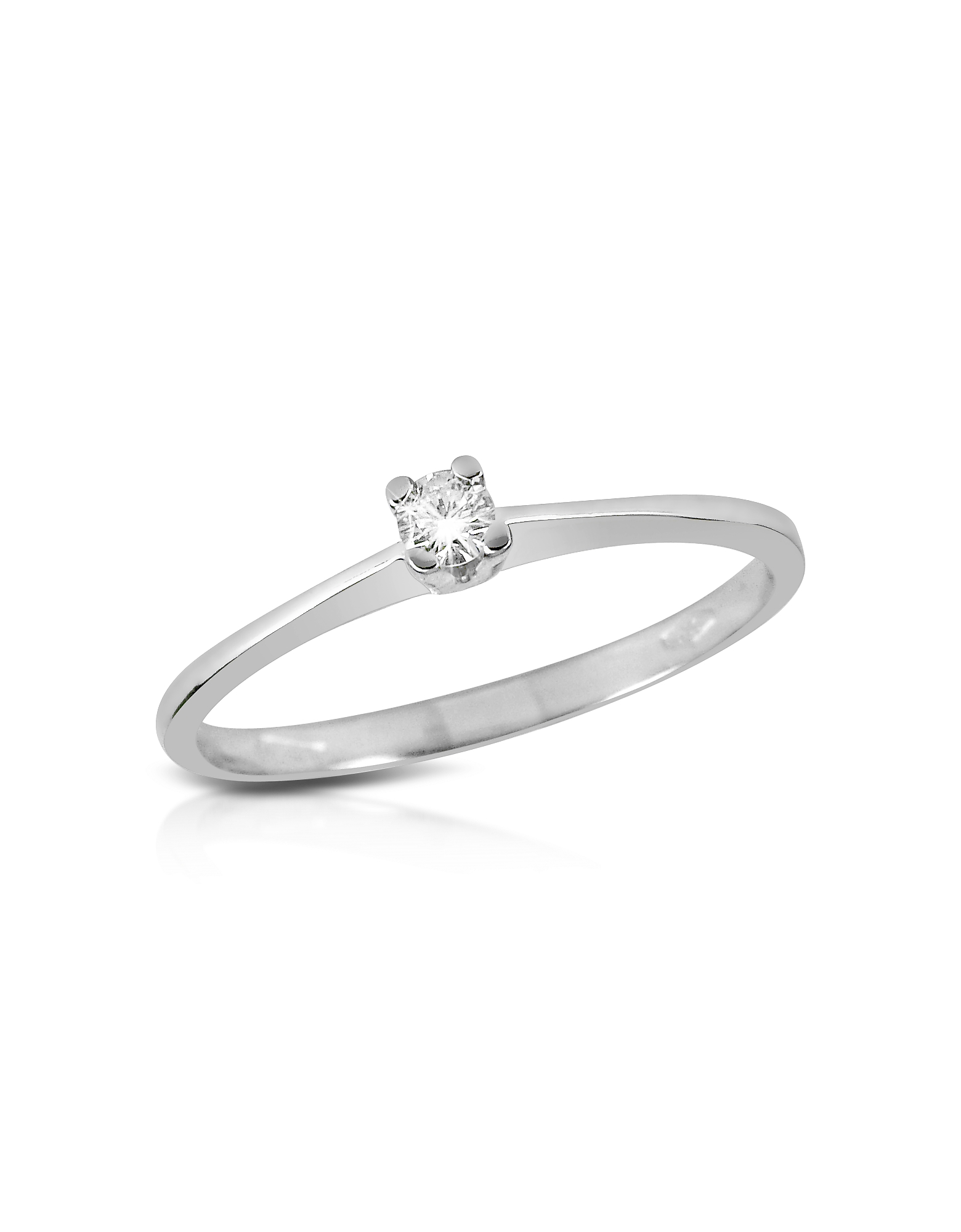Forzieri Rings, 0.04 ct Prong-Set Diamond Solitaire Ring